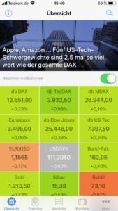 Finanzen100 Börsen-App