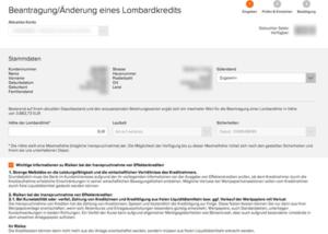 Wertpapierkredit | Quelle: www.flatex.de