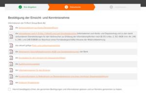 Infos & Dokumente | Quelle: www.flatex.de