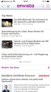 OnVista Börsen-App